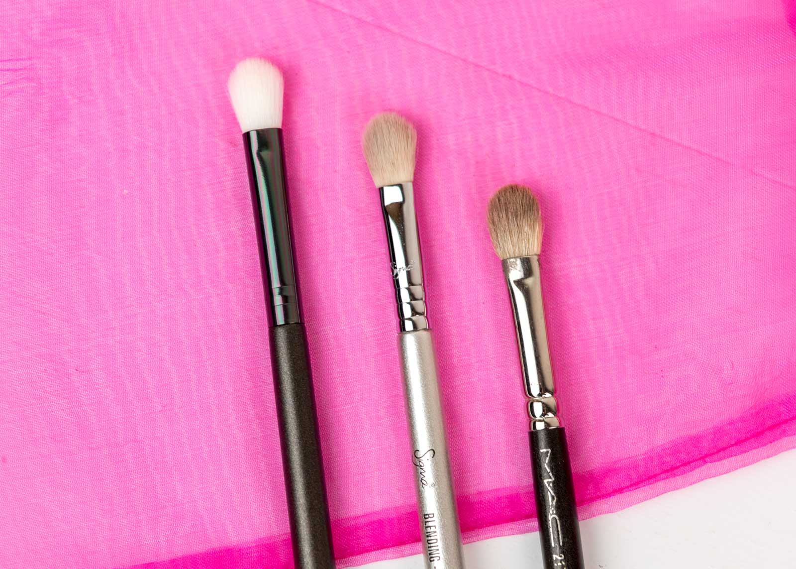 Luxie Beauty Blending Brush compared to MAC 217 and Sigma blending