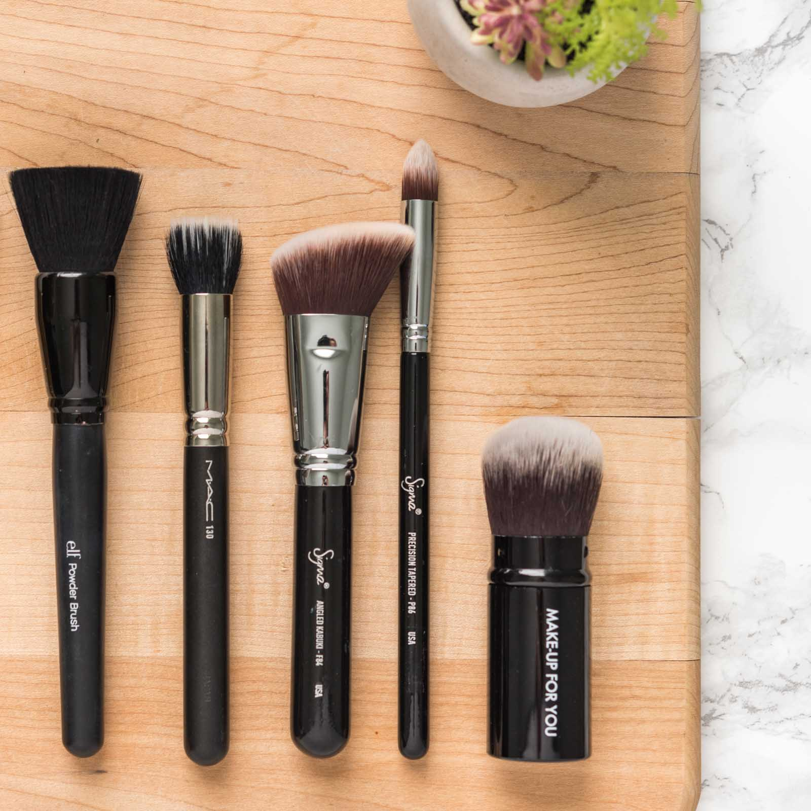 favorite makeup brushes mac sigma everyday minerals julep