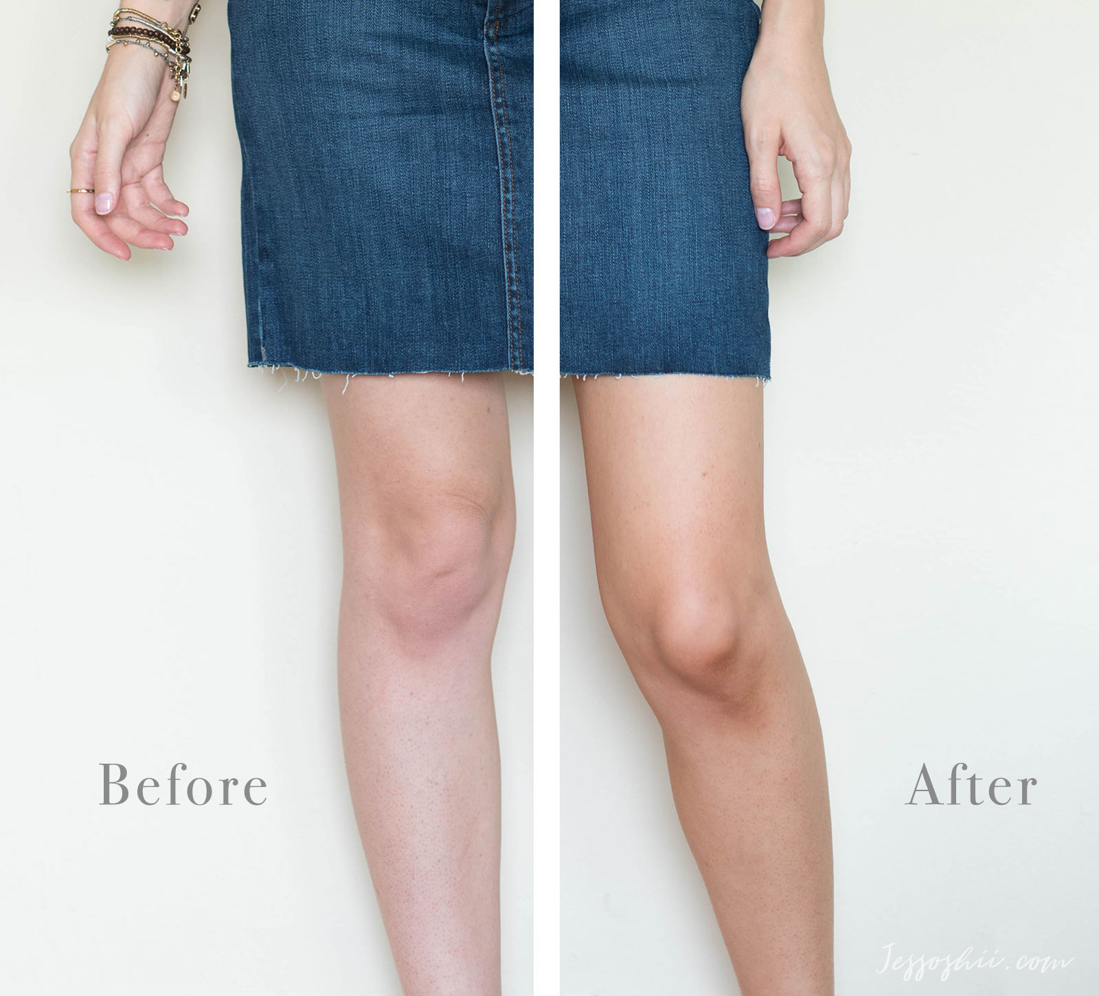 tan luxe the water review, before & after 05