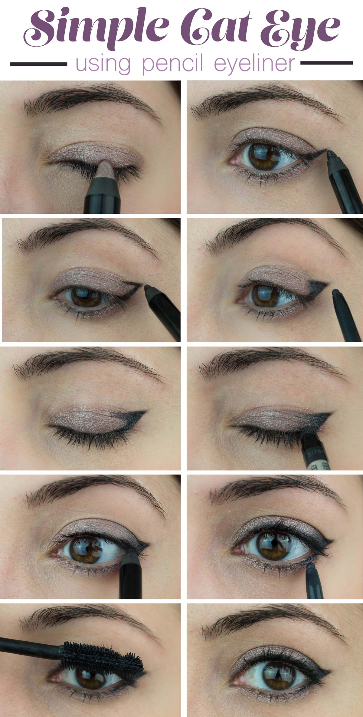 how to draw cat eyes with liquid eyeliner