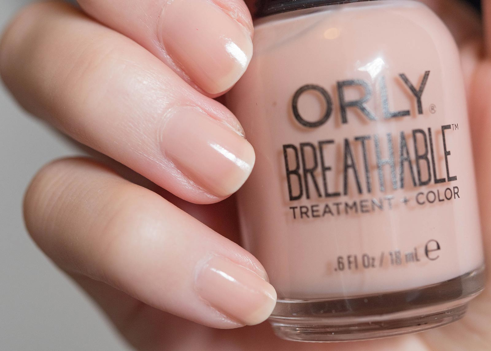 Orly Breathable nail polish Nourishing Nude swatch