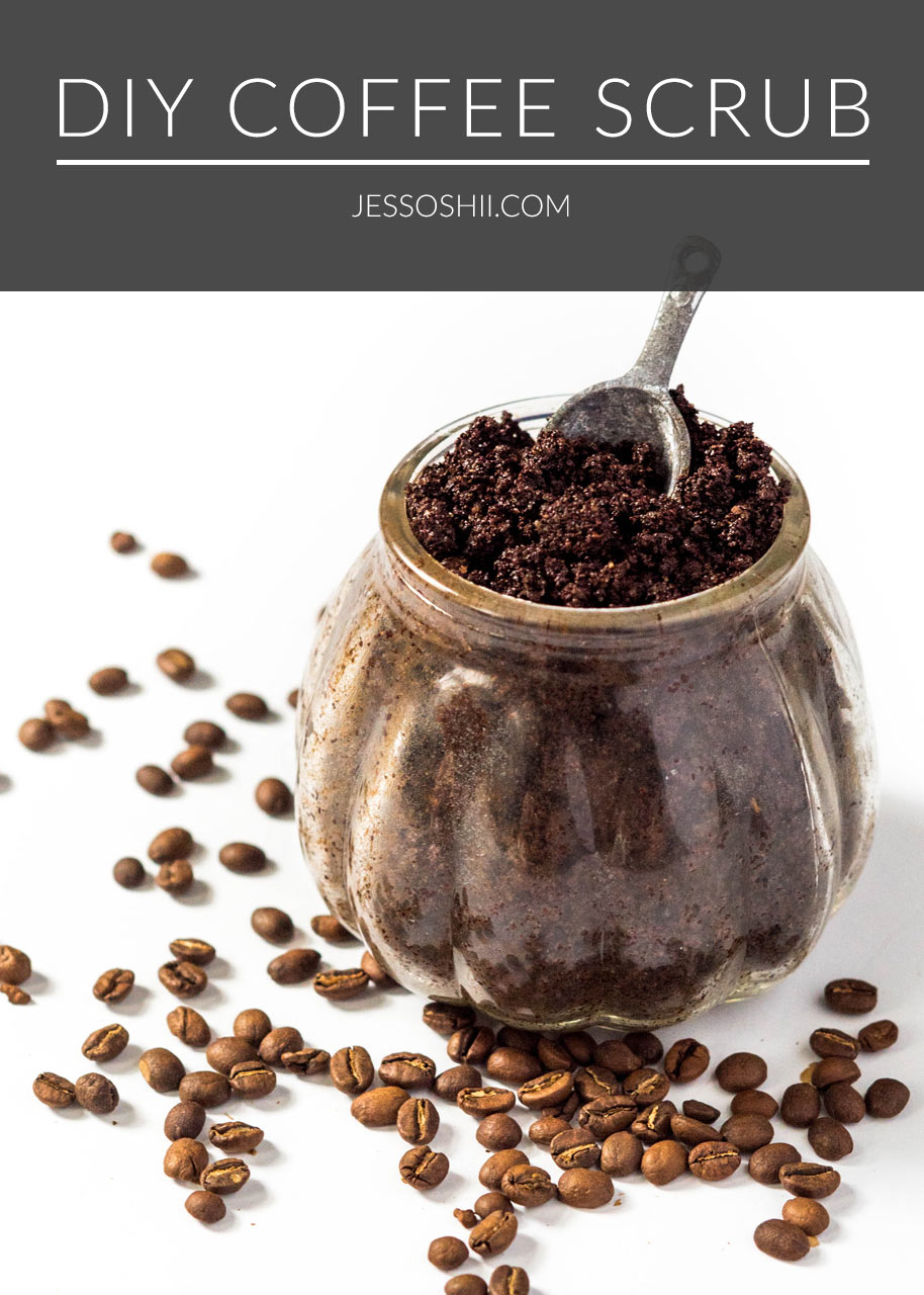 DIY coffee coconut oil body scrub recipe