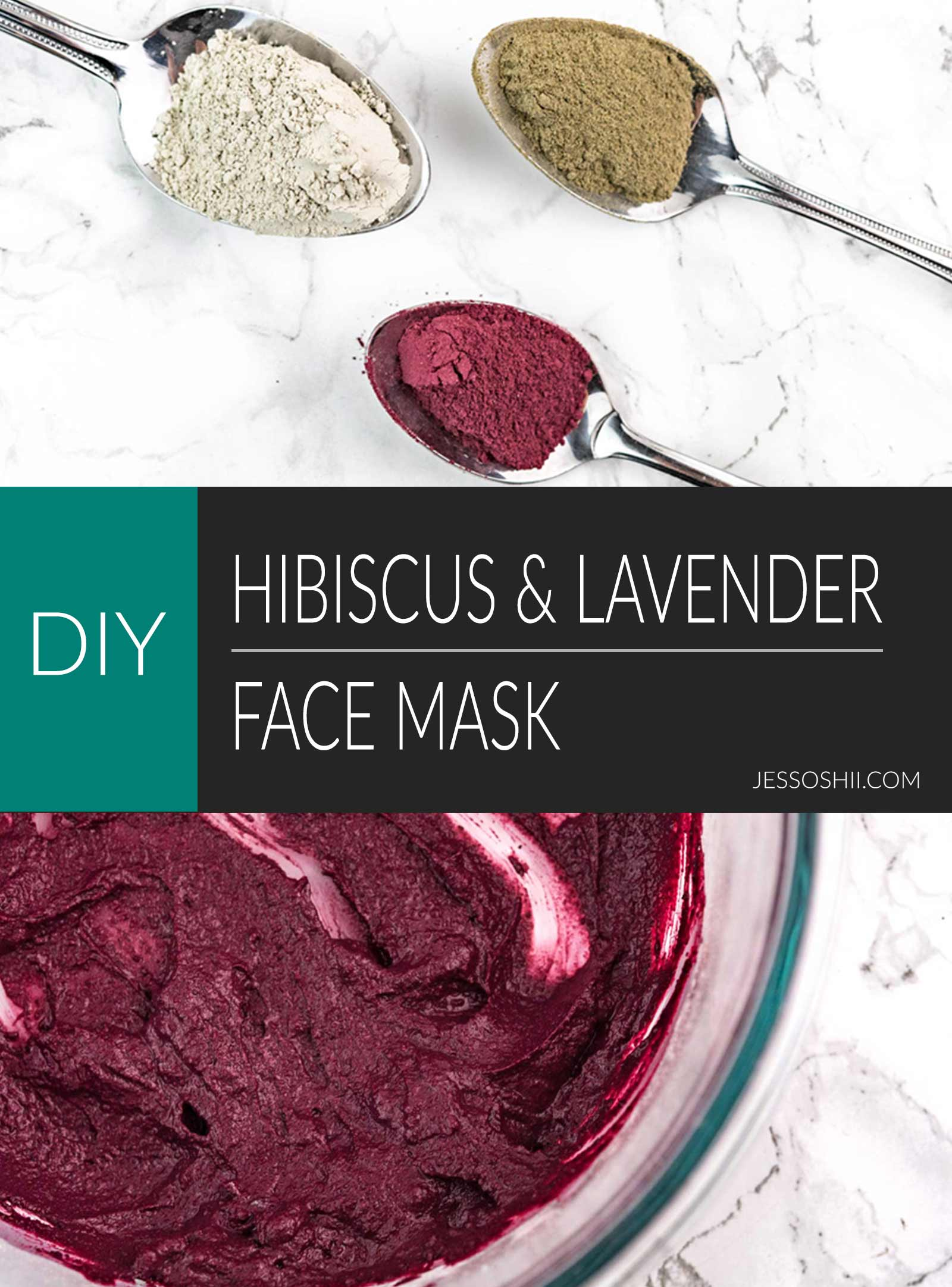 hibiscus and lavendar face mask recipe and how to