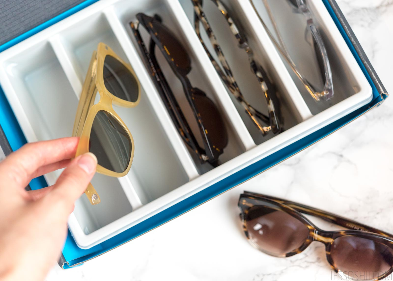 Warby Parker sunglasses review, try on
