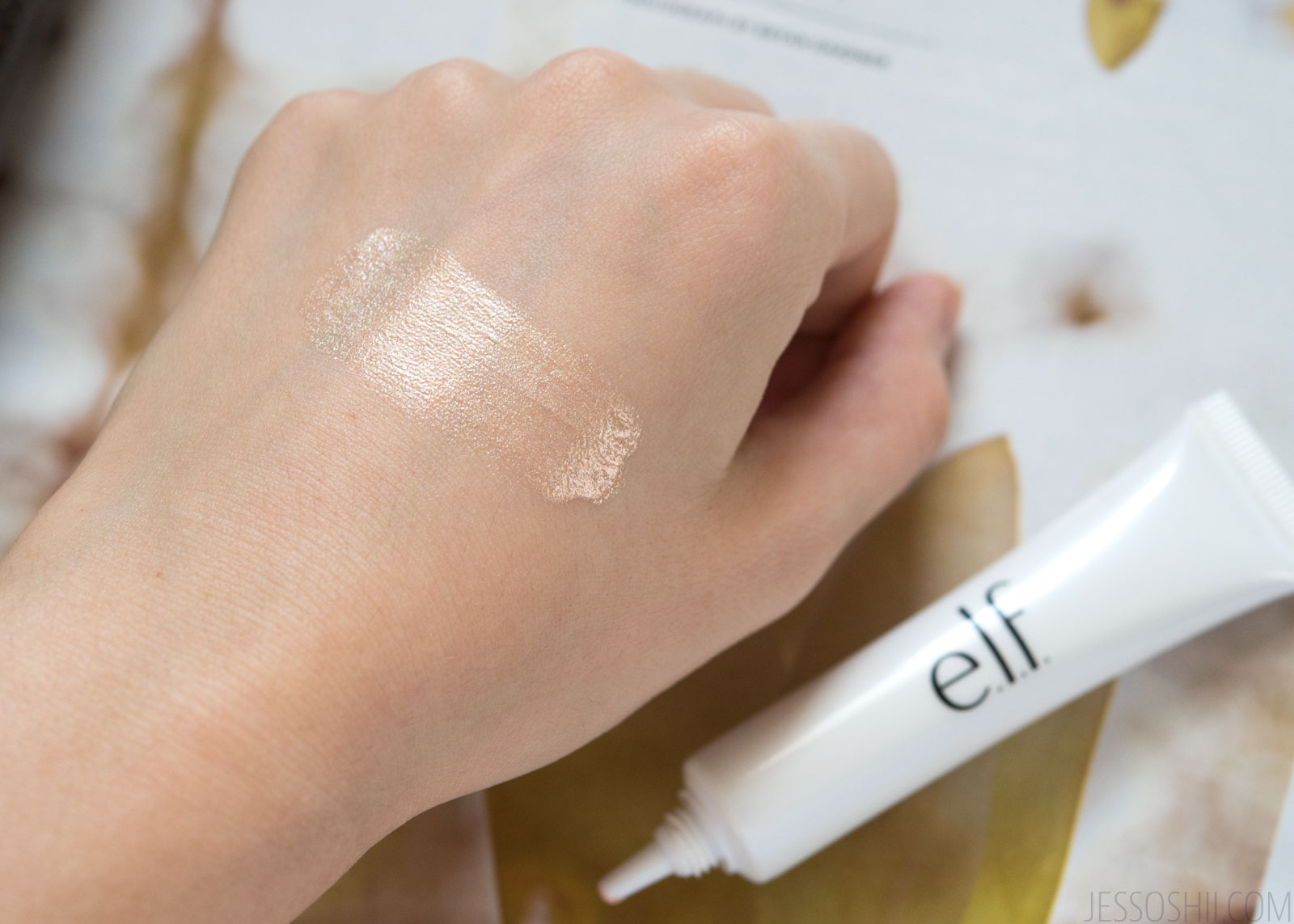e.l.f. Highlighting Dewy Drops liquid highlighter swatch