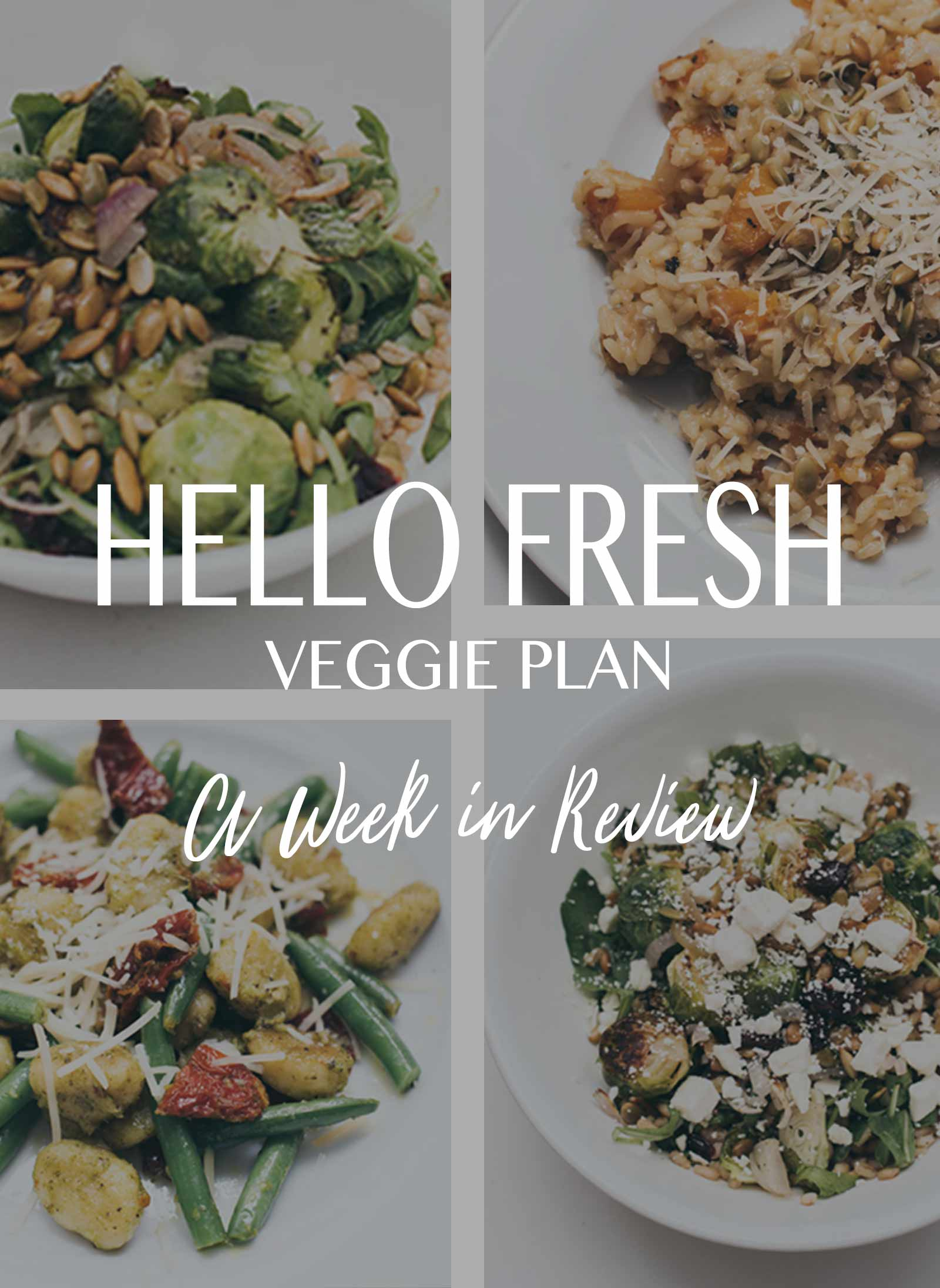 Hello Fresh Pick Menu