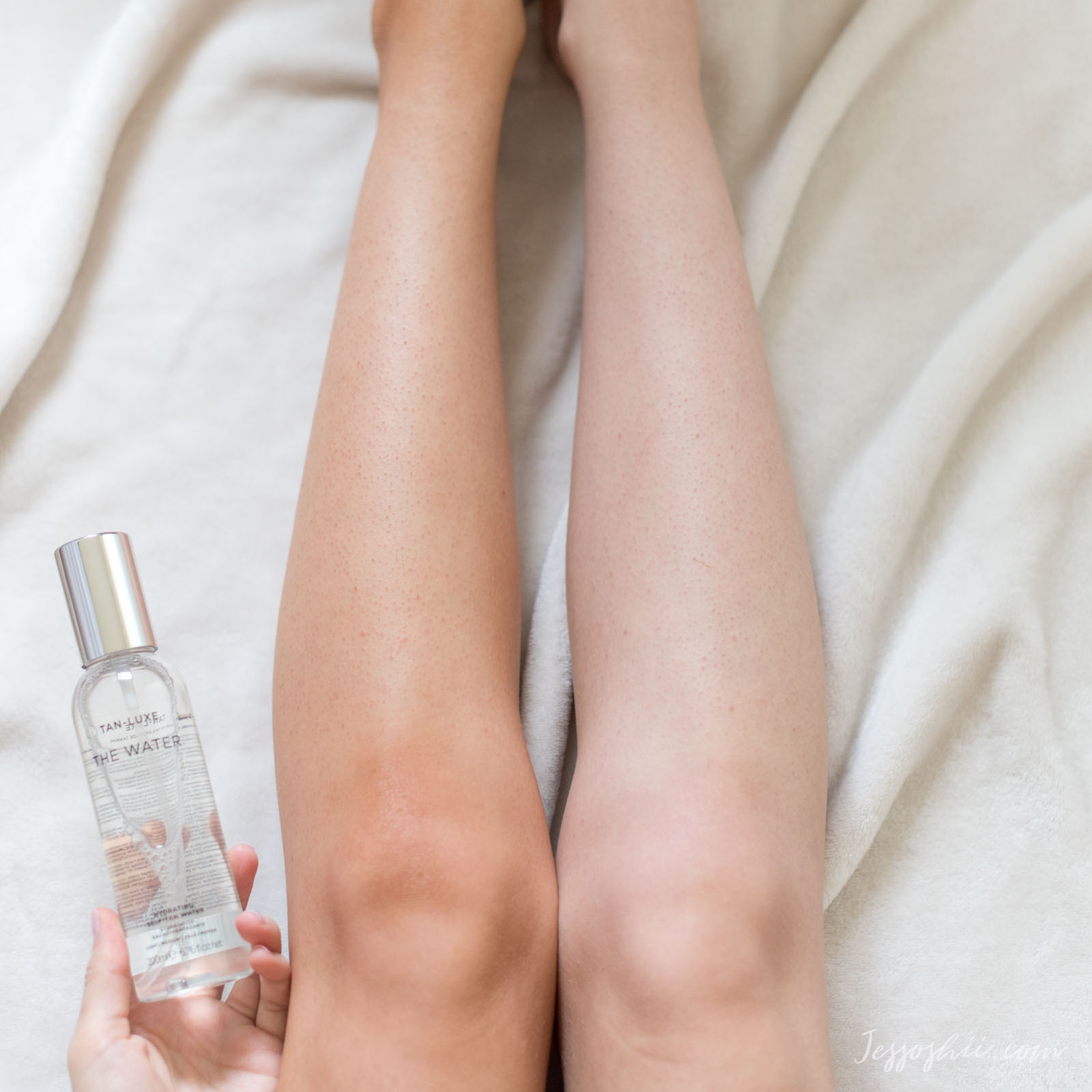 tan luxe the water review, before & after 02