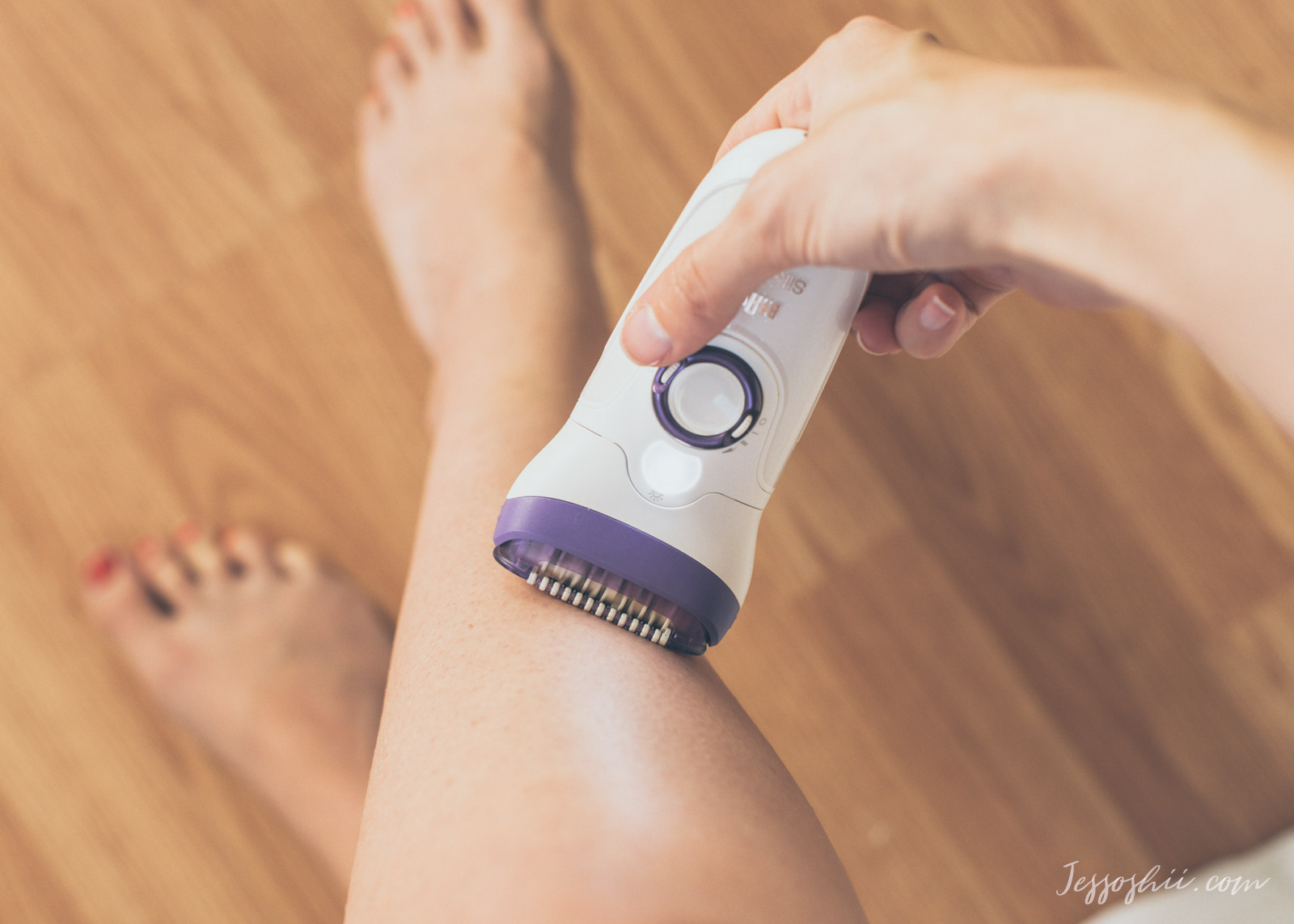 how to use an epilator + Braun Silk-épil 9 review 3